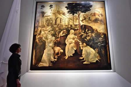 """""""Adoración de los Magos"""" de Leonardo desvela secretos al volver a los Uffizi"""