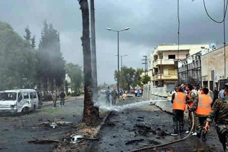 El EI reivindica el atentado en Homs y el intento de ataque en Damasco