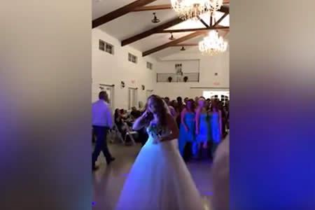 Una joven con cáncer se casa y en su boda hace esta conmovedora sorpresa