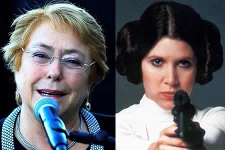 Bachelet recuerda lucha de princesa Leia contra lado oscuro de la Fuerza