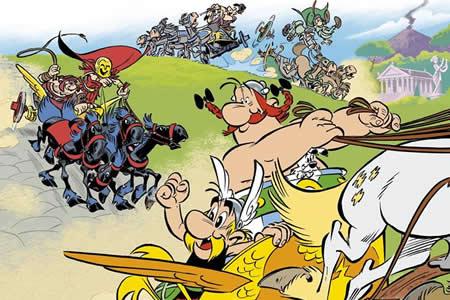Astérix viaja a Italia para combatir a Roma sobre ruedas en su nueva aventura