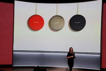 Google presenta sus asistentes domésticos Google Home Mini y Google Home Max