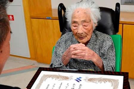 La japonesa Nabi Tajima de 117 años, la persona más anciana del mundo