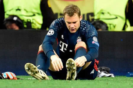 Neuer es operado nuevamente del pie izquierdo y será baja hasta enero