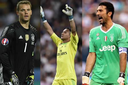 Buffon, Navas y Neuer, candidatos al premio FIFA a mejor portero