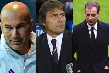 Zidane, Conte y Allegri, finalistas del premio 'The Best' a mejor entrenador