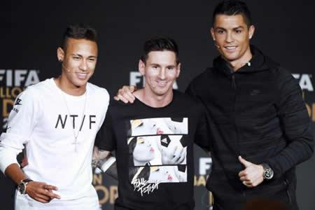 Ronaldo, Messi y Neymar pugnarán por el premio The Best a mejor jugador