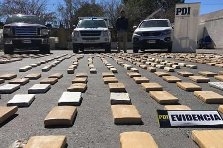 Detienen a dos bolivianos con media tonelada de marihuana en Chile