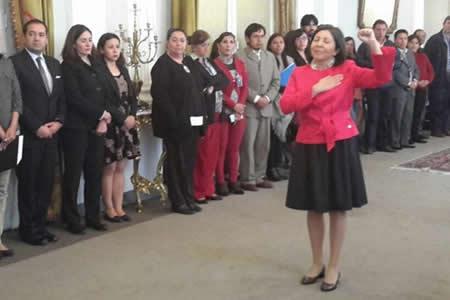María Luisa Ramos jura como nueva Vicecanciller