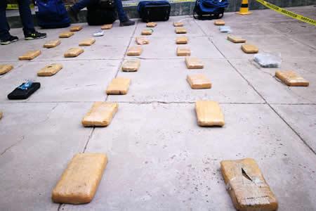 Policía antidroga secuestra 228,4 toneladas de droga entre enero y octubre