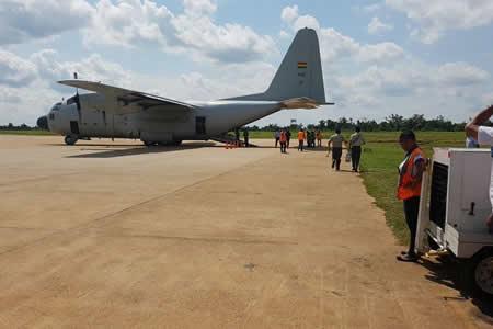 Llegan restos de piloto del avión de Lamia a Cobija