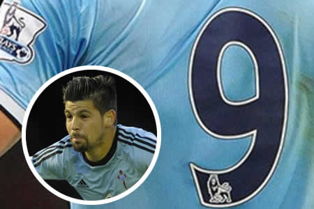 Nolito elige el dorsal número '9' en el Manchester City
