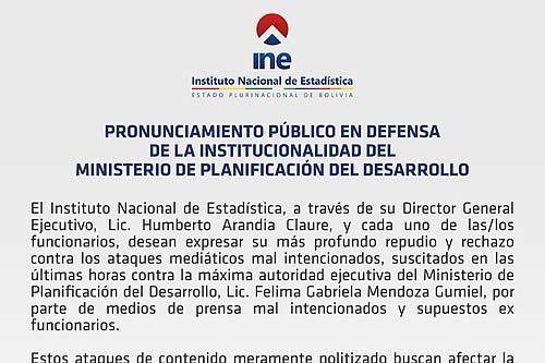Director del INE denuncia ataques mediáticos mal intencionados contra la ministra de Planificación