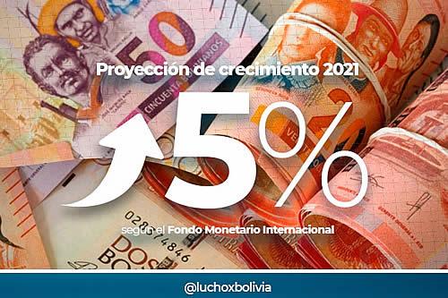 Presidente Arce afirma que proyección de crecimiento del FMI para Bolivia del 5% es resultado de un manejo económico responsable