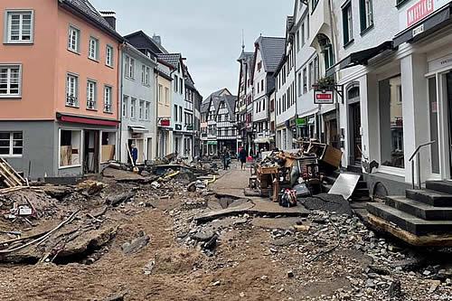 Merkel visitará zona castigada por inundaciones en Alemania