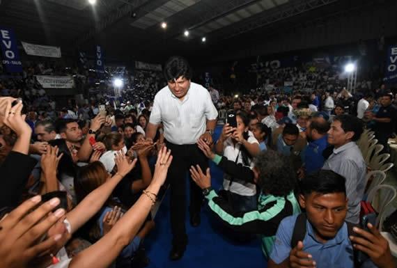 Morales aspira a tres senadores por Santa Cruz en los comicios de octubre