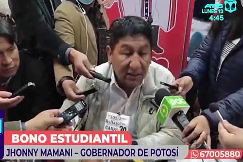 """Potosí: Se iniciará el pago del """"Bono estudiantil"""" de Bs 500 desde el 21 de septiembre"""