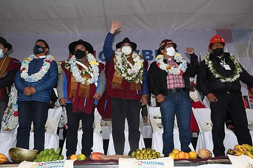"""Presidente Arce: """"Nosotros no hacemos discursos, hacemos obras y mostramos resultados al pueblo"""""""