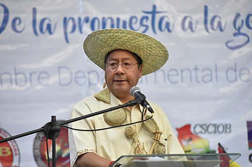 Presidente Arce: En 2020, Santa Cruz sufrió un decrecimiento económico histórico y el desempleo subió a 11,4%