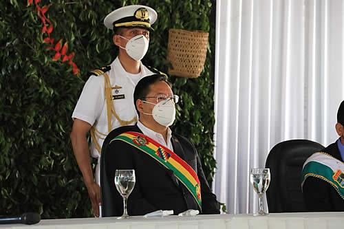 Presidente participa en actos protocolares por aniversario de Pando y en conmemoración a los 119 años de la Batalla de Bahía