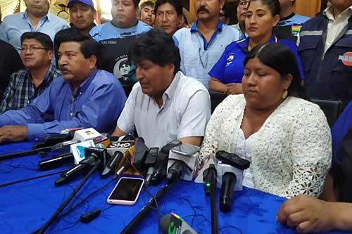 Eligen a Evo Morales como presidente del MAS-IPSP