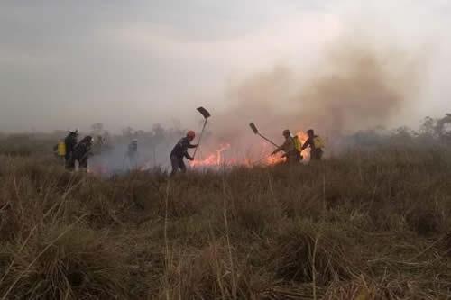 Focos de calor en la Chiquitania registran baja significativa