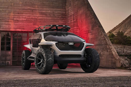 Audi reemplaza los faros por drones en su futurista concepto de todoterreno eléctrico