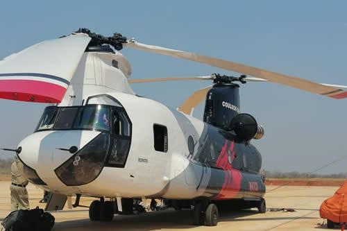 """Avión """"Ilyushin"""" y helicóptero """"Chinnok"""" operan en la lucha contra el fuego en la Chiquitania"""
