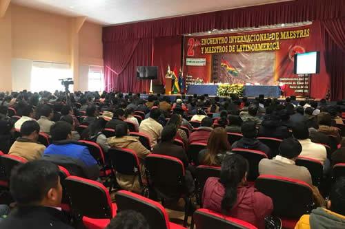 Encuentro Internacional de Maestros prevé fortalecer la educación pública en Latinoamérica