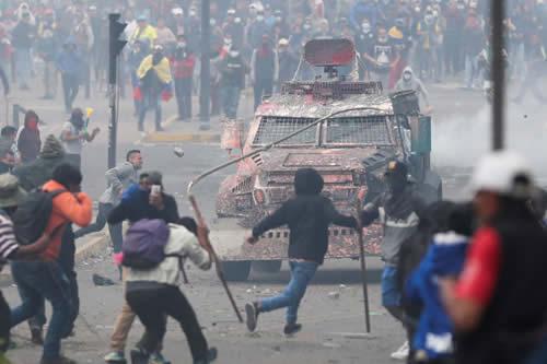 Siete países latinoamericanos apoyan a Gobierno ecuatoriano ante masivas protestas