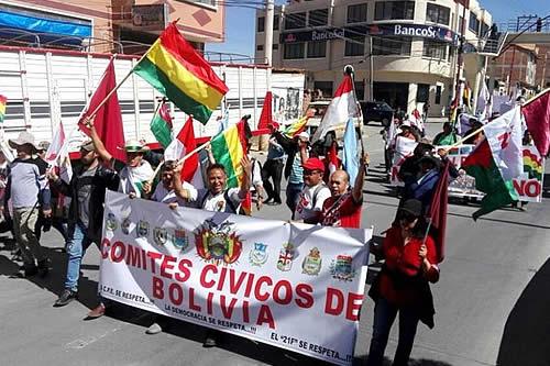 Cívicos de 6 departamentos piden a políticos unirse para las elecciones nacionales