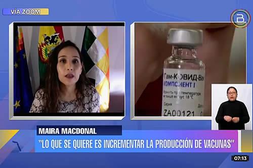 Embajadora de Bolivia en Ginebra: OMS planteará un tratado para responder a la pandemia