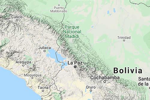 Observatorio de San Calixto reporta sensación de sismo en las ciudades de Cobija y La Paz