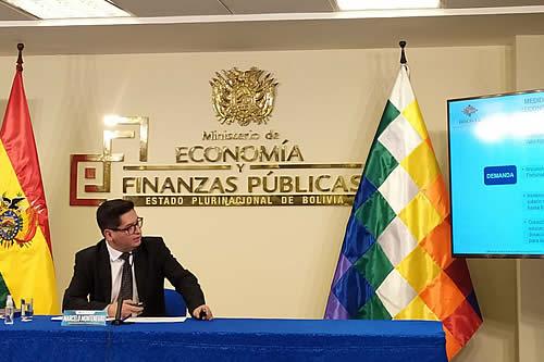 Montenegro ve que existen las condiciones para que la economía boliviana crezca en un 4,4%