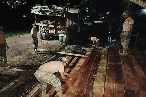 Armada comisa 2.360 pies tablares de madera ilegal en el municipio de Rurrenabaque