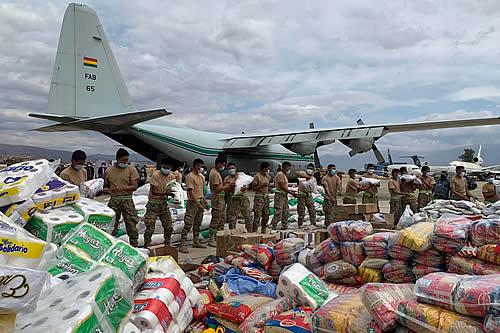 Gobierno envía ocho toneladas de alimentos para las familias de la Chiquitania