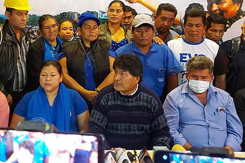 Evo Morales anticipa que se sancionará con pérdida de curul a 'traidores' del MAS