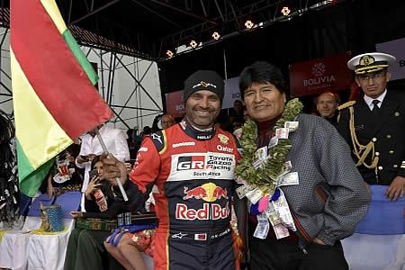 Nasser Al-Attiyah recomienda que el Dakar siga corriéndose por Bolivia