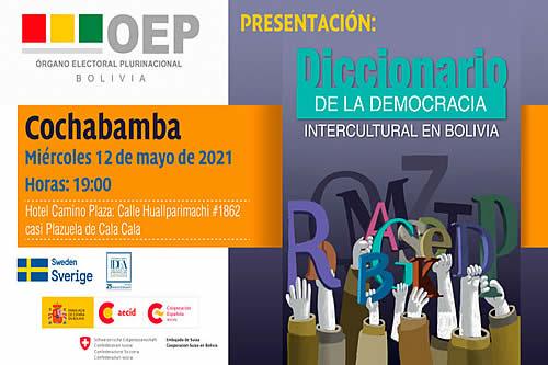 """El TSE presenta este miércoles el """"Diccionario de la Democracia Intercultural en Bolivia"""""""