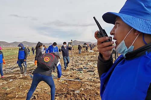 Alcalde electo de Oruro impulsa segunda campaña de limpieza en el lago Uru Uru