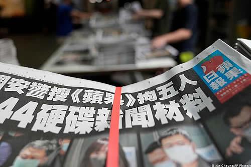 Diario prodemocracia de Hong Kong publica edición desafiante