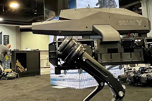 """Fabrican en EE.UU. un perro robot con un rifle """"letal"""" de alta tecnología integrado"""
