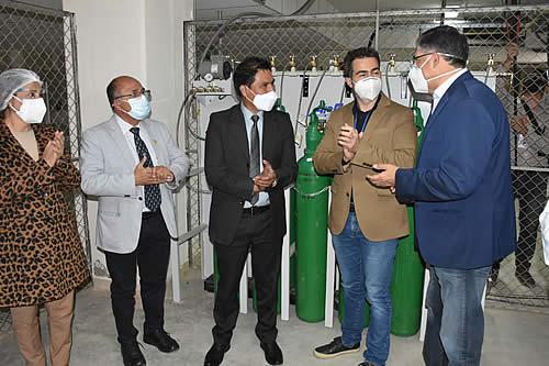 Planta generadora de oxígeno comienza a funcionar en el Hospital del Sur en Cochabamba