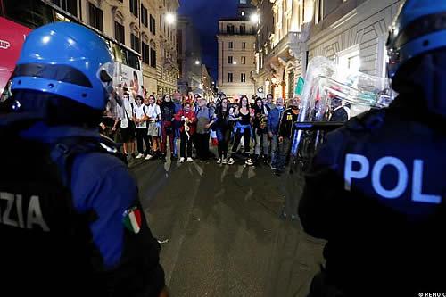 Alerta por temor a nuevas manifestaciones violentas en Italia