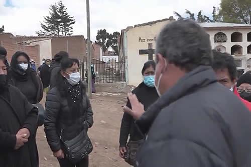 Potosí: Familiares de 280 personas fallecidas por Covid piden exhumación de cadáveres