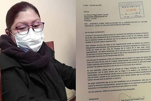 Una profesora denuncia que le suplantaron su identidad en la vacunación