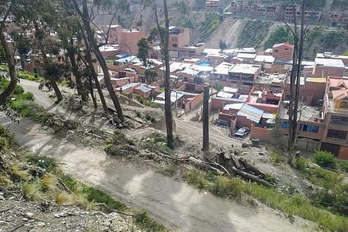 Loteadores deforestan cerca de Ciudadela Ferroviaria y ponen en riesgo la estabilidad de Pura Pura