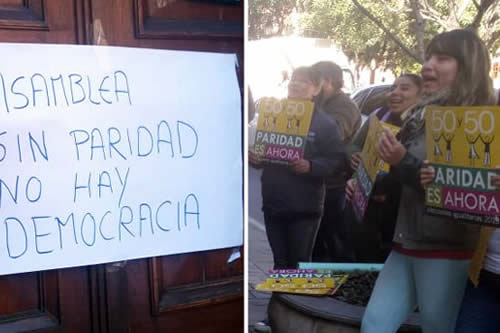 Asamblea de Tarija rechaza norma de paridad y desata protesta de mujeres