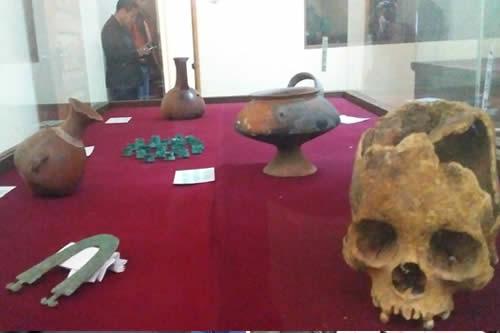 Entregan en custodia al municipio de Viacha más de 300 piezas arqueológicas