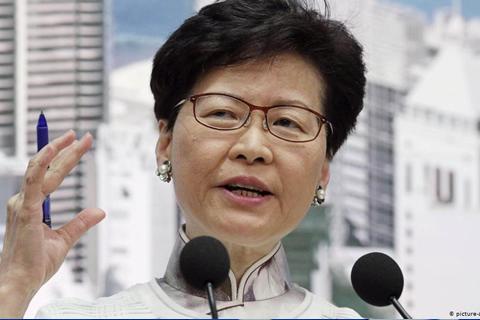 Líder hongkonesa se disculpa pero no retira el proyecto de ley extradición